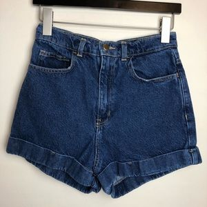 American Apparel Size 27 Mom High Rise Jean Shorts